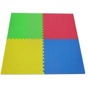 "Tadpoles Double Sided Playmat Set (24"") 4 Piece - Multicolored"