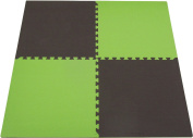 """Tadpoles Double Sided Playmat Set (24"""") 4 Piece - Green/Brown"""