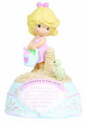 "Precious Moments ""Footprints in the Sand"" Musical Figurine"