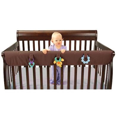 Leachco Easy Teether XL Convertible Crib Teething Rail Cover - Brown (XL)