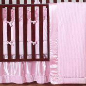 JoJo Designs Pink Chenille and Satin Collection 9-Piece Crib Bedding Set