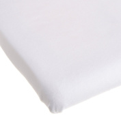 Carter's Easy Fit Portacrib Jersey Fitted Sheet - White
