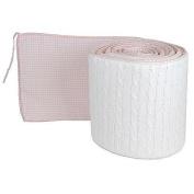 Tadpoles Cable Knit Crib Bumper - Pink