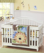 Just Born Jungle Buddies 4-Piece Crib Bedding Set