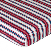 JoJo Designs Nautical Nights Collection Fitted Crib Sheet - Stripe