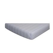 Go Mama Blue & Cream Stripes Crib Sheet