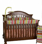 Cotton Tale Here Kitty Kitty Front Crib Rail Cover Up