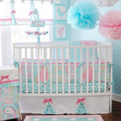 My Baby Sam Pixie Baby 4 Piece Crib Bedding Set - Aqua