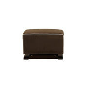 Babyletto Kyoto Ottoman - Mocha Suede with Ecru Piping
