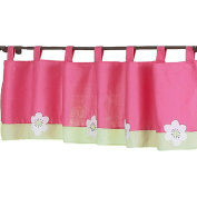 JoJo Designs Pink and Green Flower Collection Window Valance