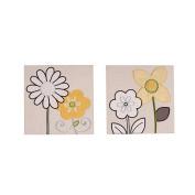 NoJo - Bright Blossom 2pc Appliqued  Canvas Art
