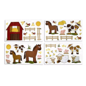 NoJo Farm Babies Wall Decals