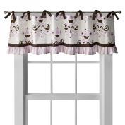 My Baby Sam Baby Love Curtain Valance - Brown/ Cream