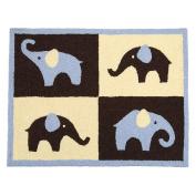 Carter's Blue Elephant Rug