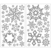 RoomMates Peel & Stick Wall Decals -  Glitter Snowflakes