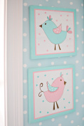 My Baby Sam Pixie Baby 2 Piece Wall Décor - Aqua