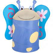 Honey Can Do Blossom the Butterfly Animal Clothes Hamper - Light Blue