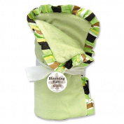 Trend Lab 101298 Receiving Blanket - Sage Velour withGiggles Stripe Ruffle