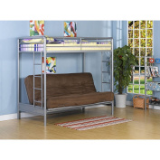 Dorel Home Products Twin-Over-Full Futon Bunk Bed, Silver - Colour