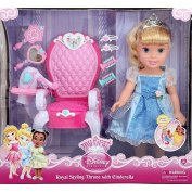 Princess Cinderella 38cm doll with Royal Styling Throne