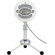 BLUE Snowball Multi-pattern USB mic, includes tripod and USB cable.  Colour White