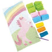 Quincrafts You Design It Latch Hook Wall Art Kit, Unicorn