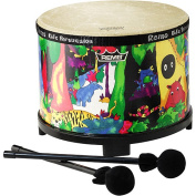 Remo Kids Percussion Floor Tom - 25cm Diameter with Mallet,  Rain Forest Fabric