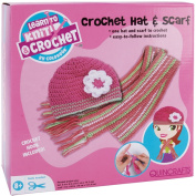 Quincrafts Learn To Crochet Kit, Hat & Scarf