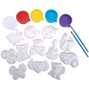 Quincrafts You Paint It Plaster Kit, Magnets