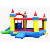 Bounceland Mega Castle Bounce House Bouncer - Red