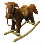 Charm Company Coffee Horse Rocker with Sound