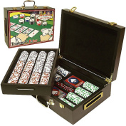 Trademark Global Clay Laser Las Vegas Chip Set with  Aluminium Case