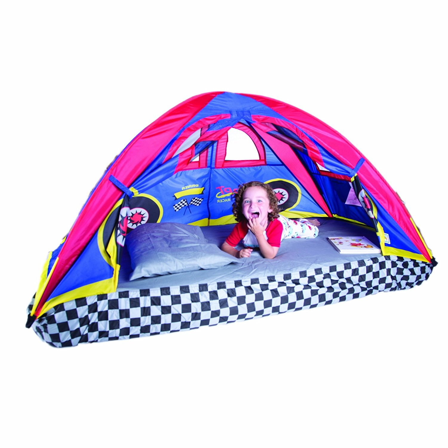 timeless design a4199 92daa Pacific Play Tents Kids Rad Racer Bed Tent Playhouse - For Full Size  Mattress