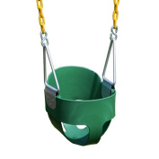 Eastern Jungle Gym Heavy Duty High Back Full Bucket Swing with Coated Chain