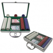 Trademark Poker 200 11.5 Gramme Suited Chips with Clear Cover Aluminium Case