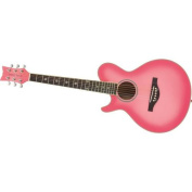 Daisy Rock Wildwood Short Scale 90cm Left-Handed Acoustic Guitar, Pink Burst