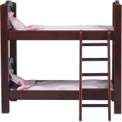 Guidecraft Doll Bunk Bed, Espresso