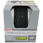 Bell 1007758 70cm White Wall Bicycle Tyre Kevlar, Black