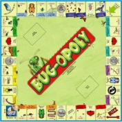 Bug-Opoly Insect Bug Entomolgy Monopoly Board Game Educational Toy featuring; Housefly, Termite, Mosquito, Lovebug, Ant, Praying Mantis, Walking Stick, Daddy Longlegs, Grasshopper, Dragonfly, Bumblebee, Butterfly, Ladybug, Luna Moth, Stinkbug, Cockroach,