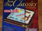 Twin Play Classics Monopoly Scrabble Wooden Box