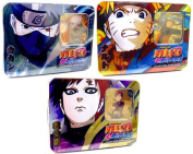 Naruto Shippuden Card Game Set of 3 Guardian of the Village Collector Tin Sets
