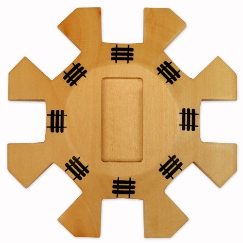 Mexican Train Dominoes Wooden Hub