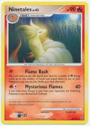 Pokemon Platinum Single Card Ninetales #36 Rare [Toy]