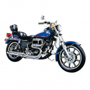 Aoshima Models 1/12 Low-Rider Motorcycle - Black