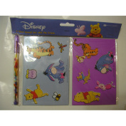 Disney Winnie the Pooh 2 pc Stencil Set with Pop Crayons