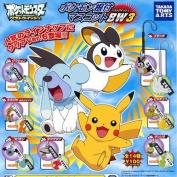 Takara Tomy Pokemon BW3 Black & White Netsuke Strap Charm Figures ~3.8cm  - Emolga