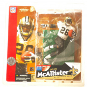 McFarlane Toys NFL Sports Picks Series 6 Action Figure Deuce McAllister (New Orleans Saints) White Jersey with No Eye Black Variant