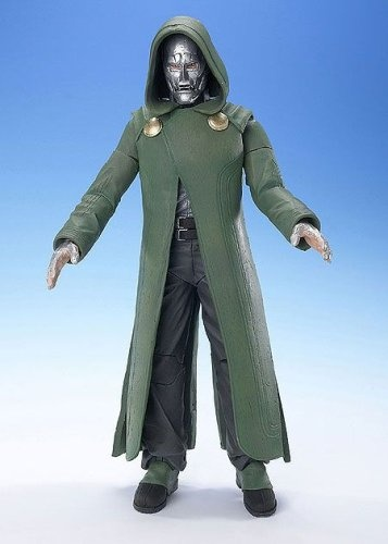Toy Biz Fantastic 4 Two-faced Dr  Doom 18cm Action Figure with Light and  Sound Rocket Launcher