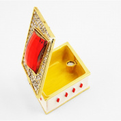 "Objet D'Art Release #350cm Ace Of Diamonds"" Casino Playing Card Suit Handmade Jewelled Enamelled Metal Trinket Box"
