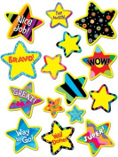 Creative Teaching Press CTP4112 Poppin Pattern Bright Star Stickers